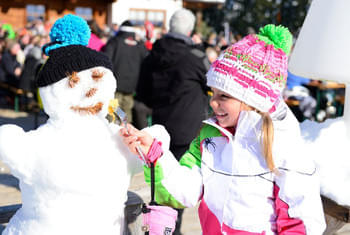 Winter holidays skiing children Kitzbühel