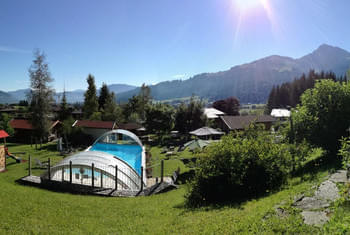 Garden with view to the Kitzbuehel Horn