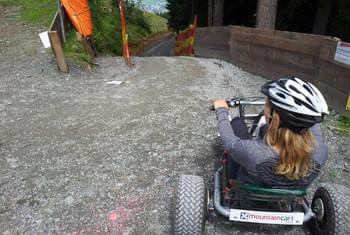 Drive with speed into the valley Mountaincart